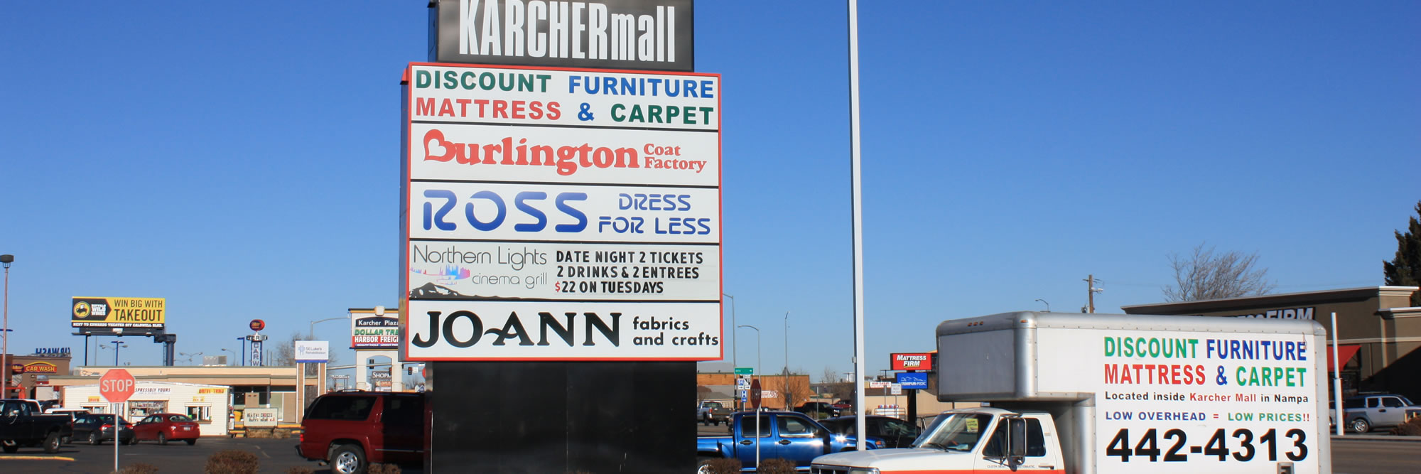 Discount Furniture and Mattress in the Karcher Mall